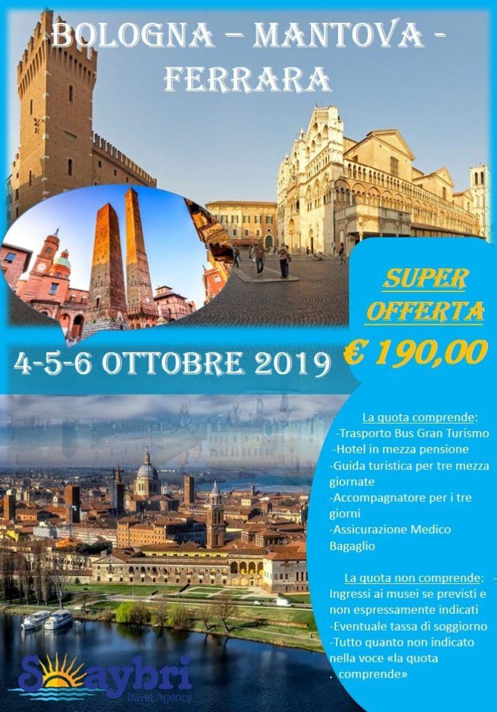 Viaggio di Gruppo Bologna-Mantova-Ferrara dal 4 al 6 Ottobre ...